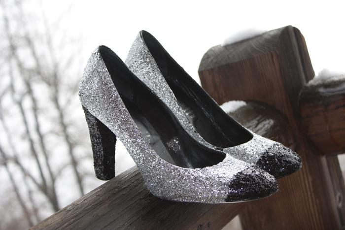 DIY : des chaussures à paillettes pour les fêtes