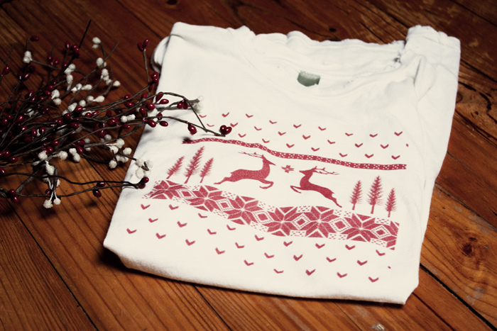 Un t-shirt à motifs nordiques